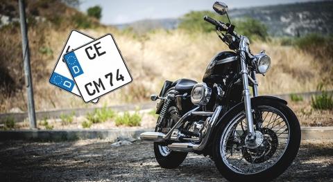 Motorrad Kennzeichen | Motorradschild | Nummernschild für Motorrad