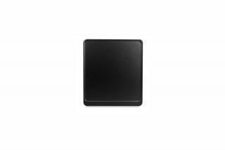 Alu-Verstärker 180 x 200 mm schwarz matt