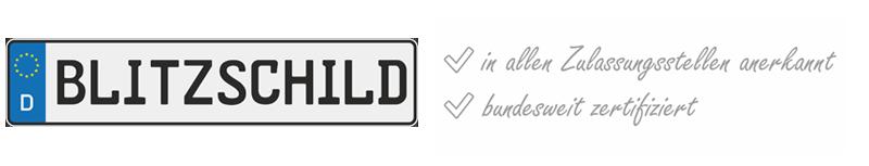 Blitzschild.de - Shop für geprägte Autoschilder, Kfz-Kennzeichen, Nummernschilder, Funschilder, Wunschkennzeichen